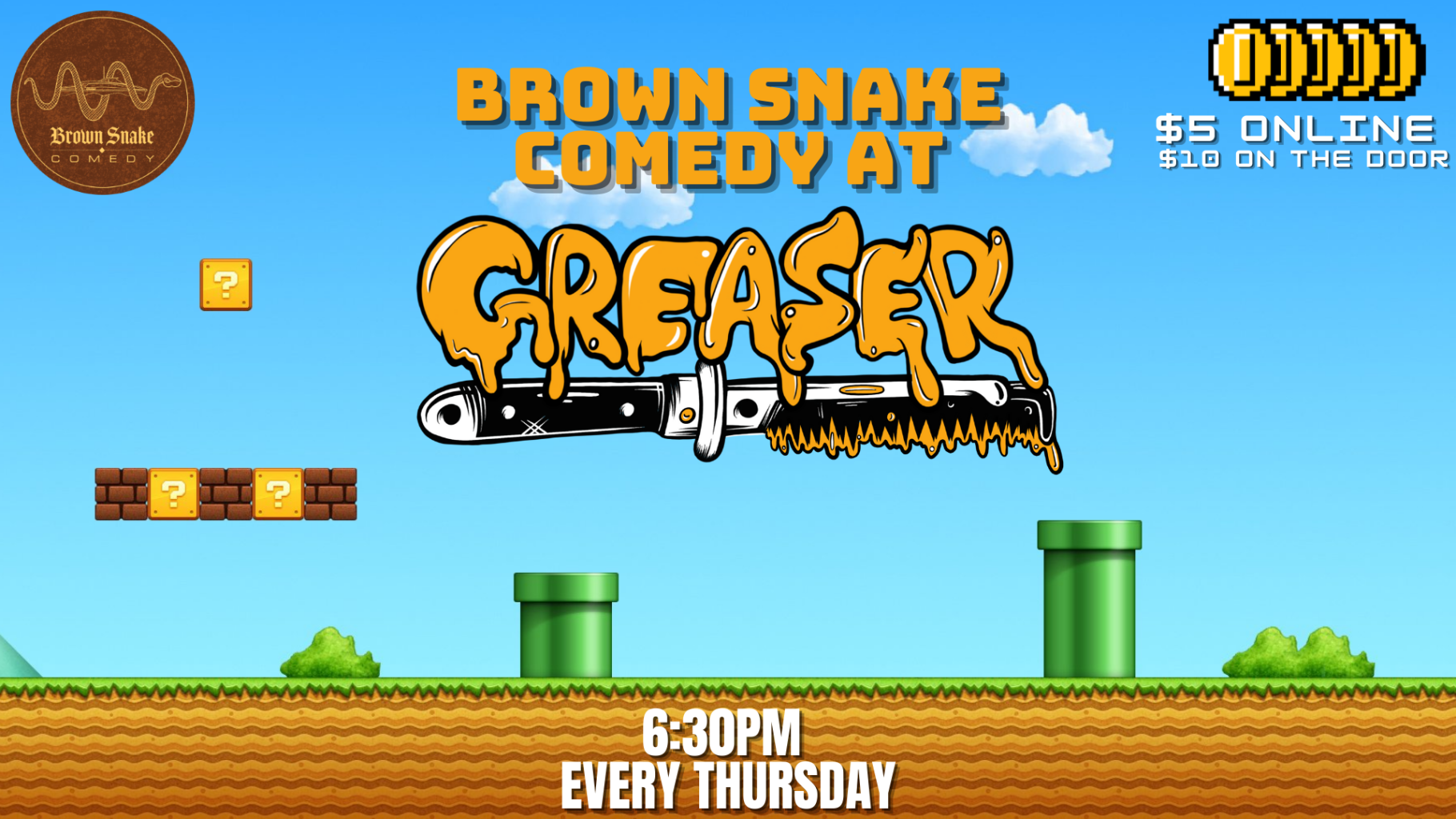 Brown Snake Open Mic Night & Karaoke – WEEKLY!