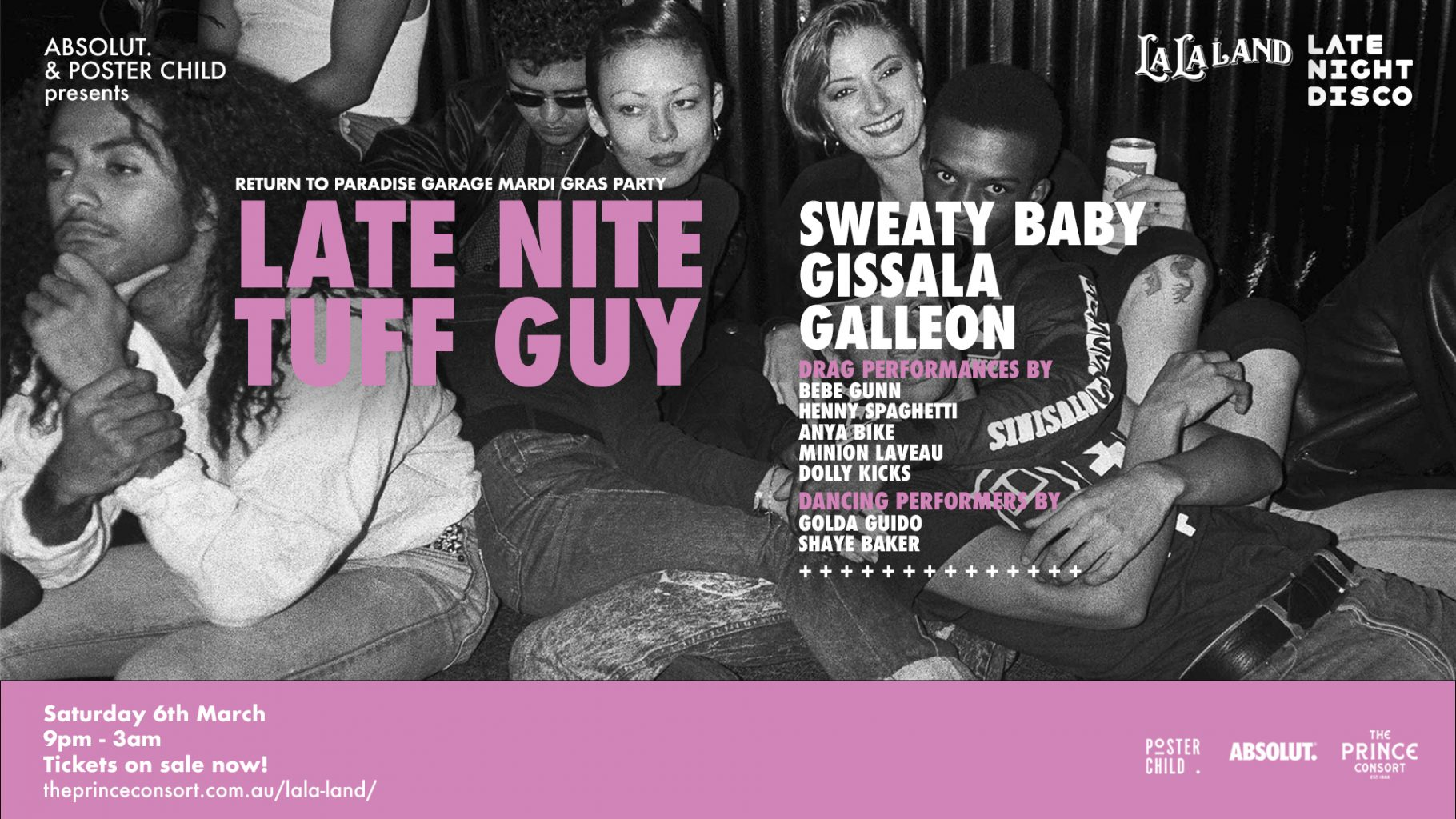 ABSOLUT.  & POSTER CHILD PRESENT LATE NITE TUFF GUY