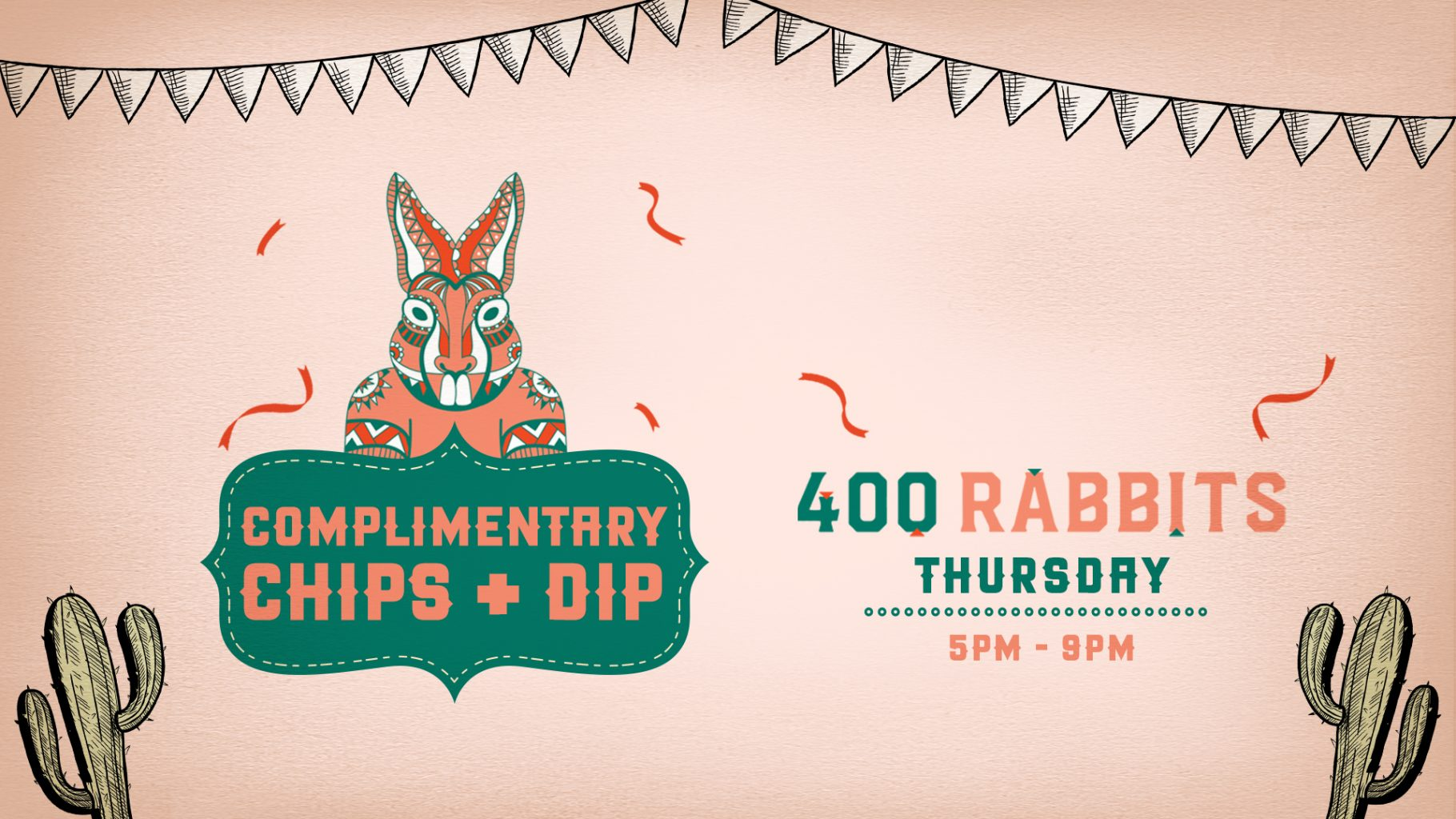 Complimentary Chips and Dip every Thursday!