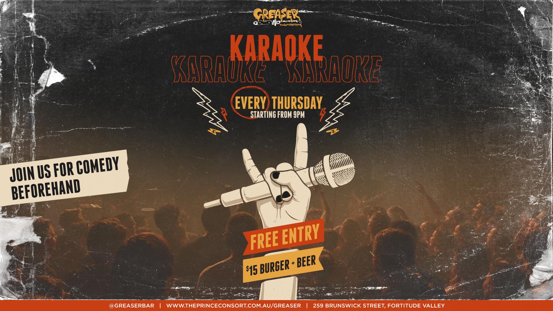 Karaoke at Greaser every Thursday