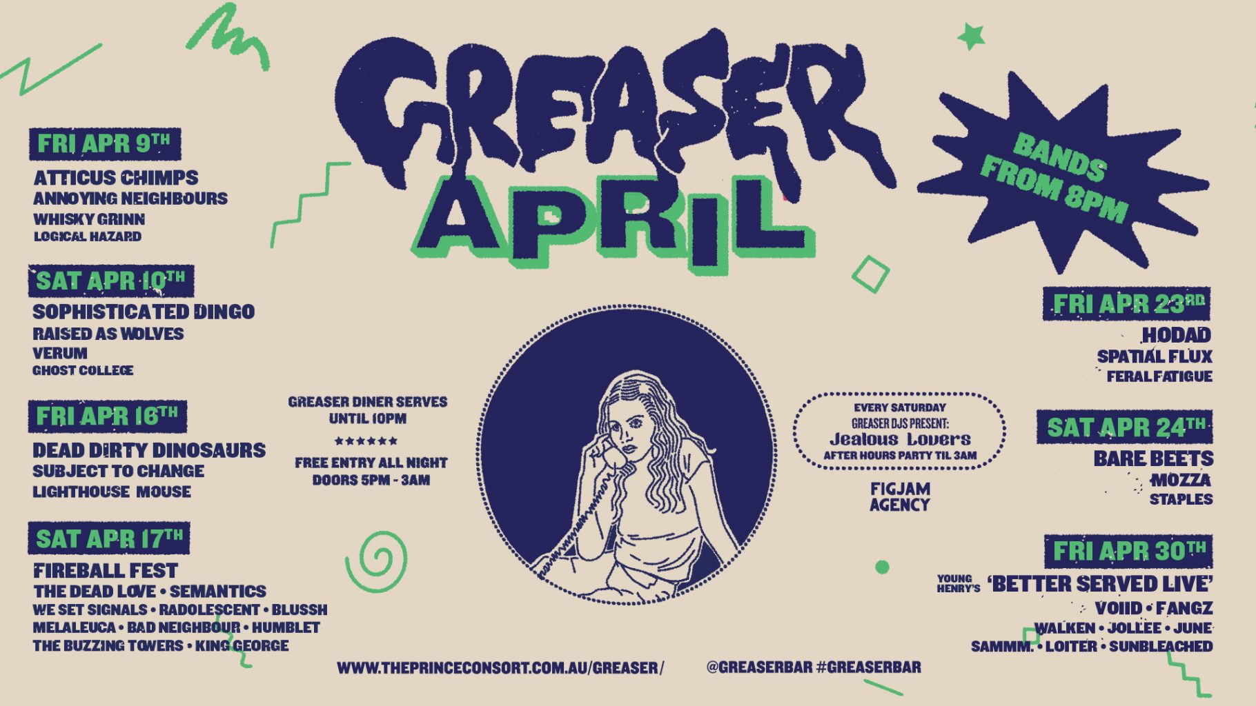 What's on at Greaser