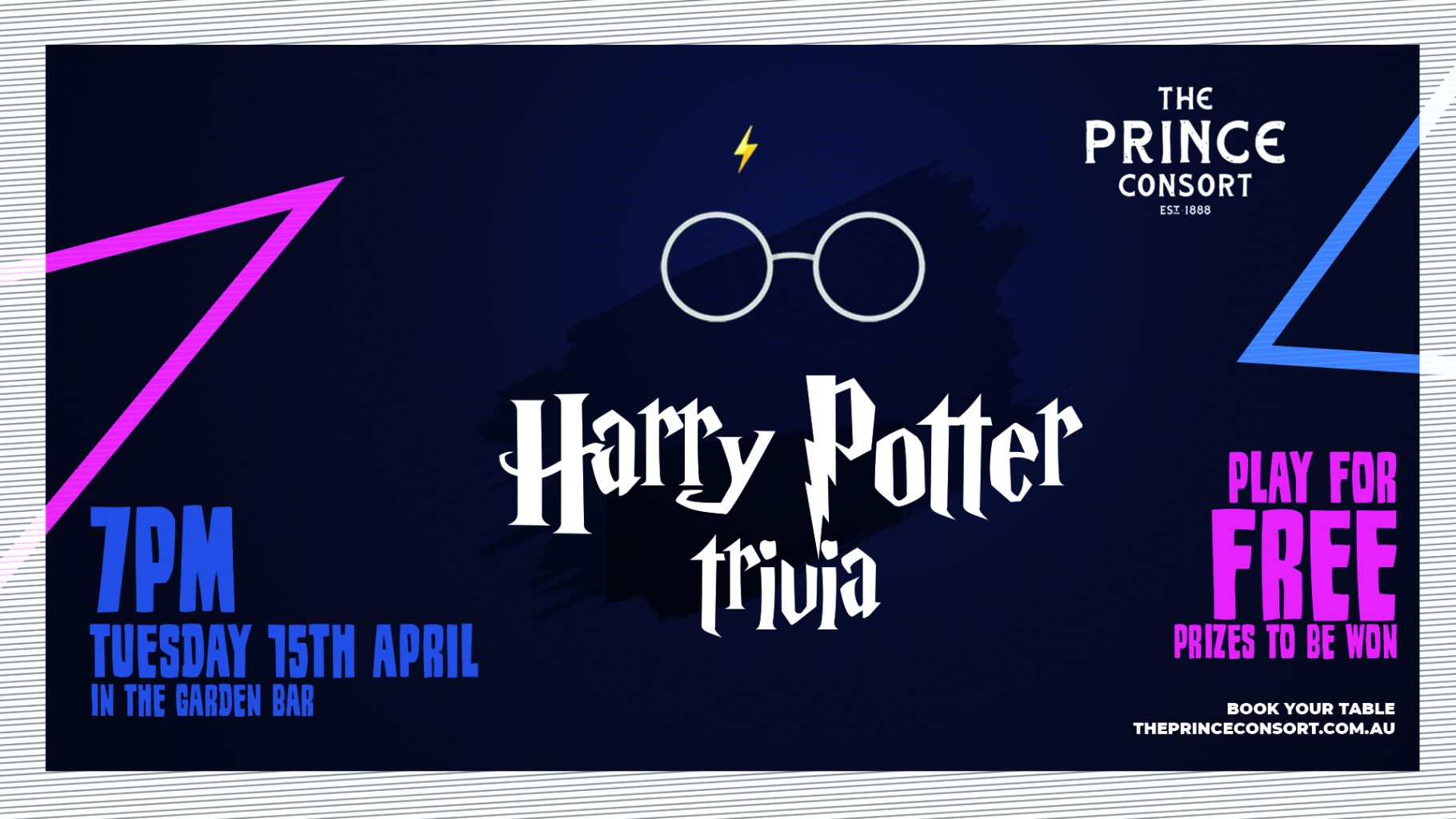 Harry Potter Trivia! Book your table now!